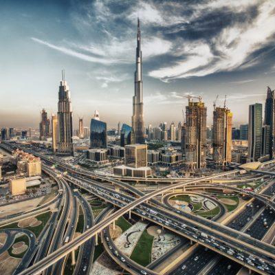 Dubai skyline with beautiful city