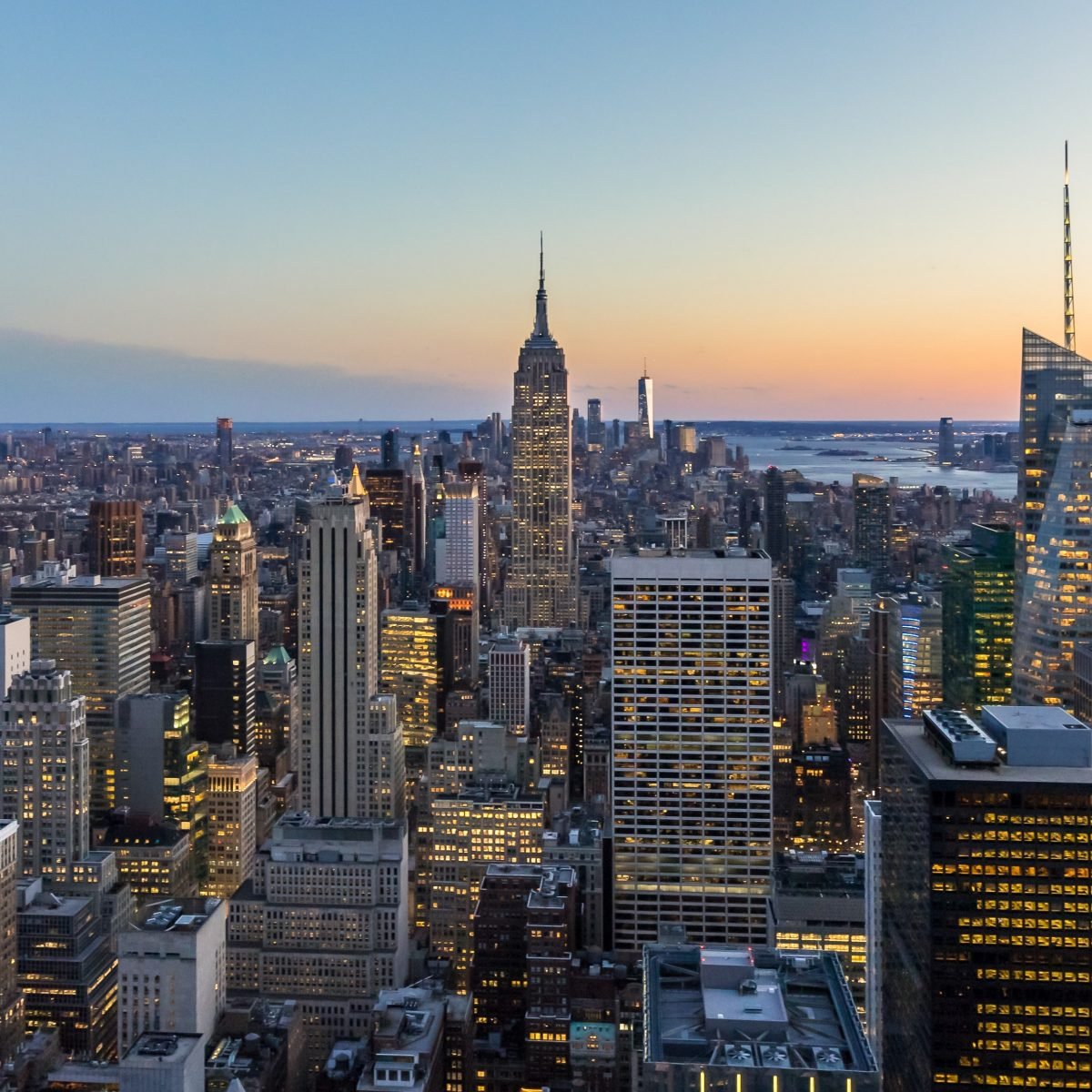Aerial photo of Manhattan
