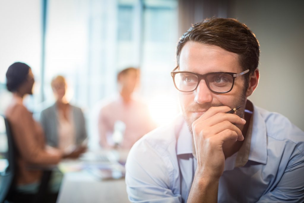 Man thinking about expanding your business to New York